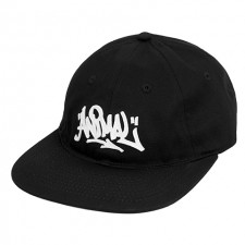 Animal 6 Panel Unstructured Adjustable Hat - Black